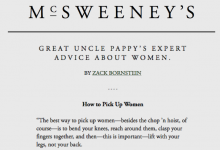 McSweeney's: Great Uncle Pappy's Expert Advice About Women
