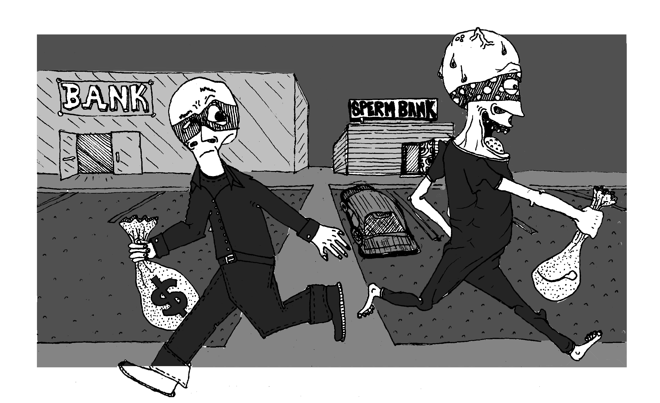 The Brown Jug: Simultaneous Heists (Comic)