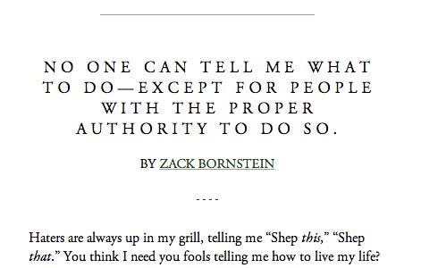 Article: No One Can Tell Me What to Do—Except for People with the Proper Authority to Do So