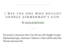 McSweeney's: I Was the One Who Bought George Zimmerman's Gun